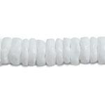 シェルパーツ / フラットビーズ ラウンド型 / ホワイト(539-4)/ 連もの20cm