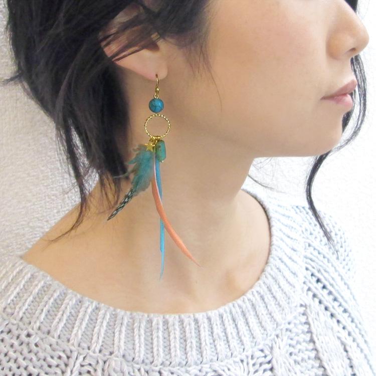 フェザー(羽根) / ホロホロ鳥(染色・1042) / BU