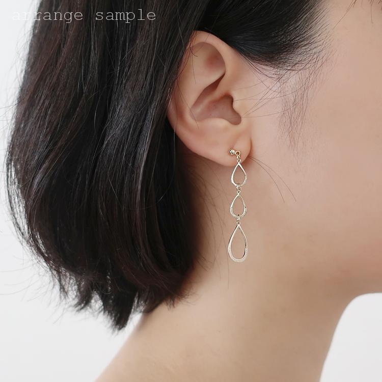 メタルパーツ / カン付デザインフープ(しずく・3941) / R
