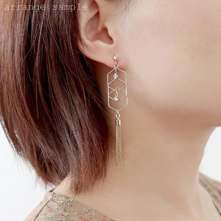 メタルパーツ / ジオメトリックデザインパーツ・ヘキサゴン(カン付・2989) / R